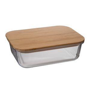 Vershoudschaal, glas en bamboe, 1,1 l