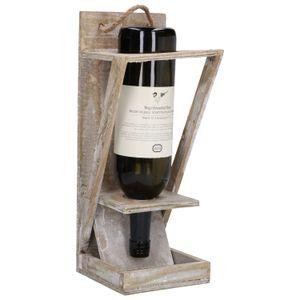 Vogelvoerhanger, hout met wijnfles, 35 x 14 cm