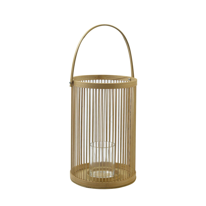 Windlicht, bamboe, Ø 20 x 45 cm