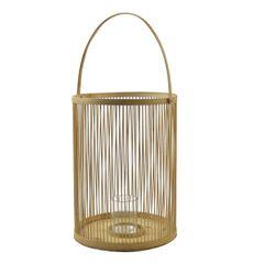 Windlicht, bamboe, Ø 28 x 64 cm