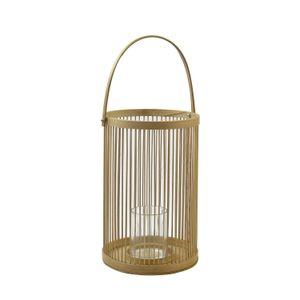 Windlicht, Bambus, Ø 20 x 45 cm