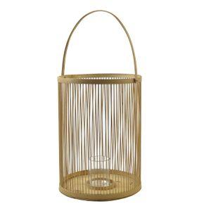 Windlicht, Bambus, Ø 28 x 65 cm