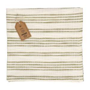 Wischlappen, Baumwolle, beige/olivgrün gestreift, 60 X 60 cm