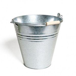 Zinken emmer met beukenhouten handvat, 10 liter